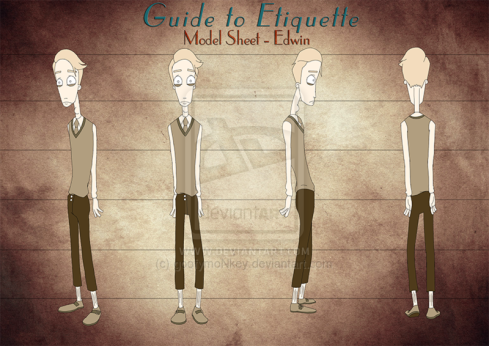 2D Character Model Sheet - Edwin