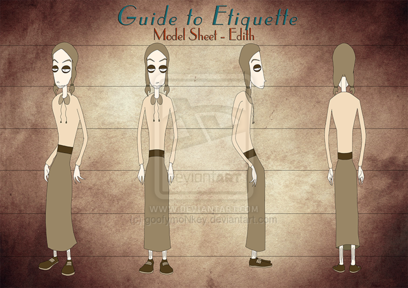 2D Character Model Sheet - Edith