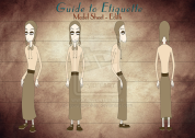Lessons in Etiquette: Edith model sheet