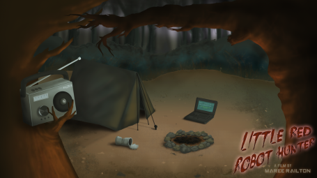 """Background Art """"Red's Campsite"""" (Little Red Robot Hunter)"""