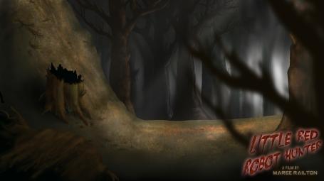 "Background Art ""Forest Chase"" (Little Red Robot Hunter)"