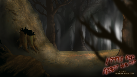 "Background Art ""Forest Chase"" (Little Red Robot Hunter)"