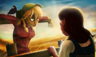 Dorothy Meets the Scarecrow