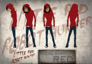 Little Red Robot Hunter: Red model sheet