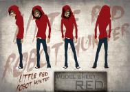 Little Red Robot Hunter: Red model sheet