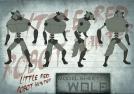 Little Red Robot Hunter: Wolf model sheet