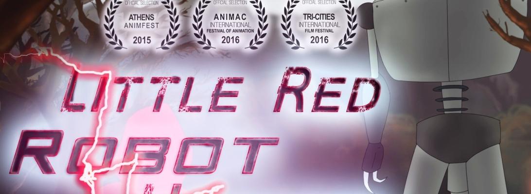 Little Red Robot Hunter animated film poster