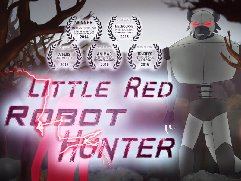 Little Red Robot Hunter animated film poster