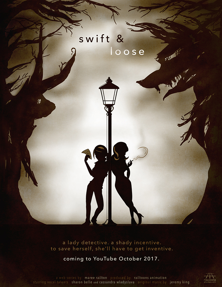 Swift And Loose animated web series: Film noir poster